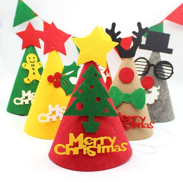 New Christmas Ornaments Decoration Christmas Hats Santa Hats Children Women Men Boys Girls Cap For Party Props