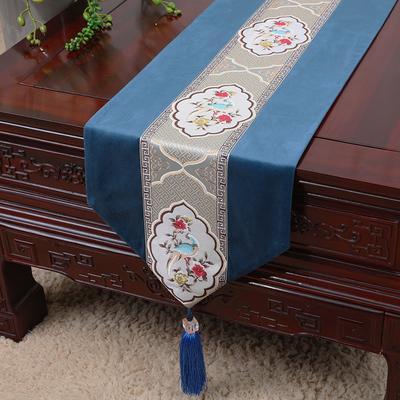 pivoine bleue 150x33 cm