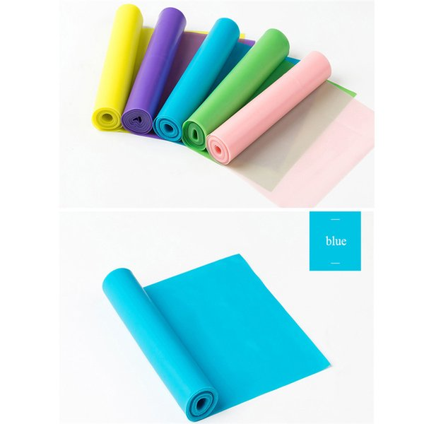 150cm*15cm*0.35mm Fitness Elastic Band Indoor Pilates Rubber Resistance Bands Yoga Ribbon For Sports Exercise Equipment Home Gym