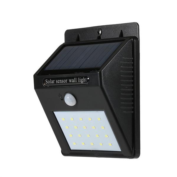 L1820 20LEDs Solar-powered Rechargeable PIR Motion Activated Wall Light Solarni Zed Svetlo Solar De La Luz Pared for Home and Garden