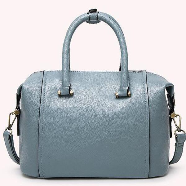 Avrupa ve Amerikan retro yumuşak PU çanta trendi rahat omuz sapları seyahat eğimli omuz çantası