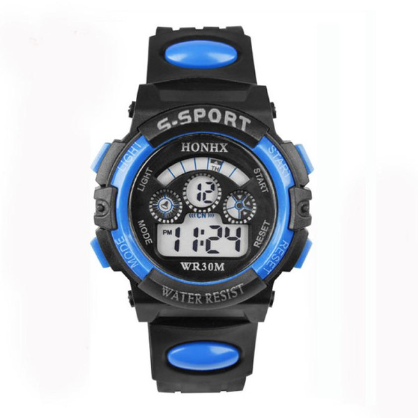 Waterproof Mens Boy's Digital LED Quartz Alarm Date Sports Wrist Watch Mens Watches Top Brand Luxury Erkek Saat Watch Men Saat