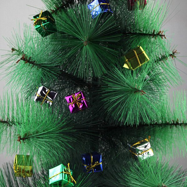 HENGHOME 12X Shinny Gift Boxes Multi-colour Package Party Christmas Tree Hanging Decor Xmas Ornament Decoration