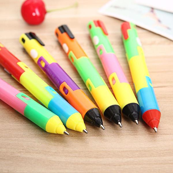 24 Pcs Foldable Ballpoint Pen Stitch Pen Creative Bend Luminous Student Prize Item Wholesale School Office Stationery