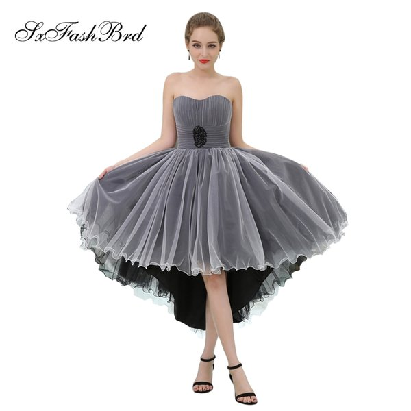 Elegant Girls Dress Sweetheart A Line Hi Low Tulle Party Formal Evening Dresses for Women Prom Dress Gowns