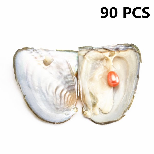 90 PCS Single Rice pearl In Freshwater Oysters Shell Oval Wish Hope Pearl Big Surprise Gift For women party DHL Free Shipping