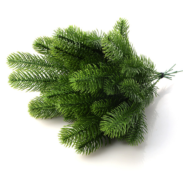 10PCS DIY Artificial Flower Wreath Fake Plants Pine Branches For Christmas Party Decor Xmas Tree Ornaments Kids Gift Supplies