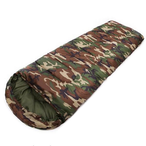 JHO-Cotton Camping sacco a pelo 15 ~ 5 gradi busta stile camouflage Multifuntional Outdoor SleepingBag Viaggi Tenere al caldo LazyBag C18112601