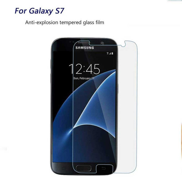 For Samsung Galaxy S2 Film Tempered Glass Screen Protector 9H 2.5D Anti-Shatter Coating for Samsung S6 S7 edge Galaxy Note III
