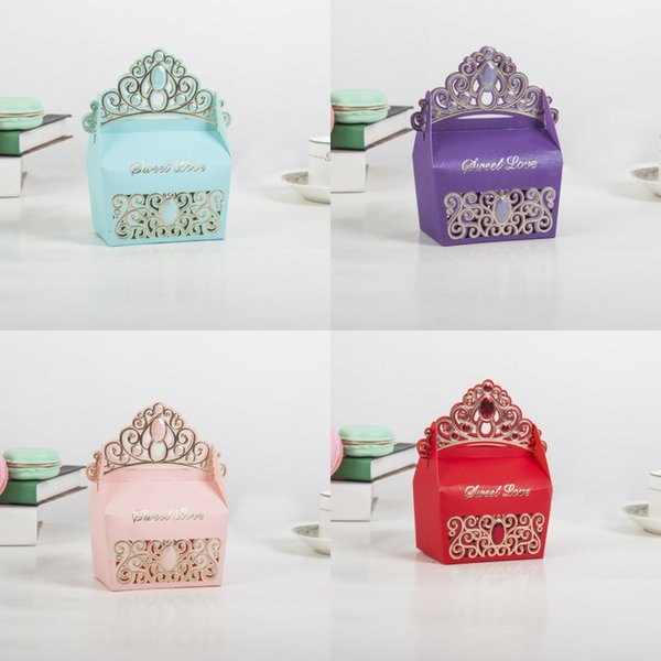 Creative Gift Boxes European Style An Crown Candy Box Wedding Decoration Multi Color Hot Sale 0 59yq T