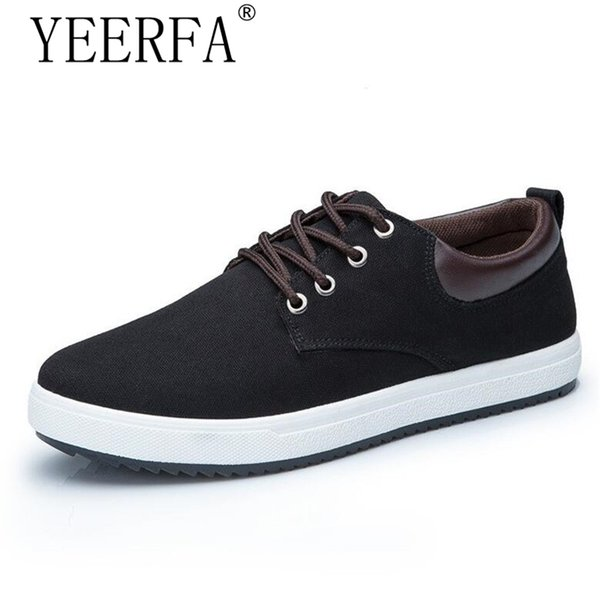 Men Shoes New 2018 Spring Canvas Men Casual Shoes Breathable Round Lace-Up Flats British Style Mens 39-45 eur