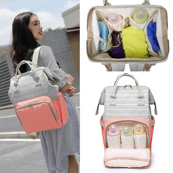 Fashion Mummy Striped Maternity Nappy Bag Large Capacity Baby Bag Bolsa Maternidade Designer Nursing For Mother diaper