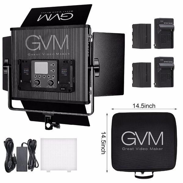 Professional 672 LED Video Light with Battery Kit CRI97 Bi color LED Camera Light for Video Studio Photography Lighting