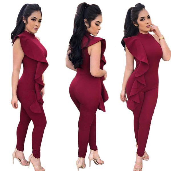 520063ad483 rompers womens jumpsuit plus size J8013 European Foreign Trade Suit-dress  Wave Characteristic Pants plus size
