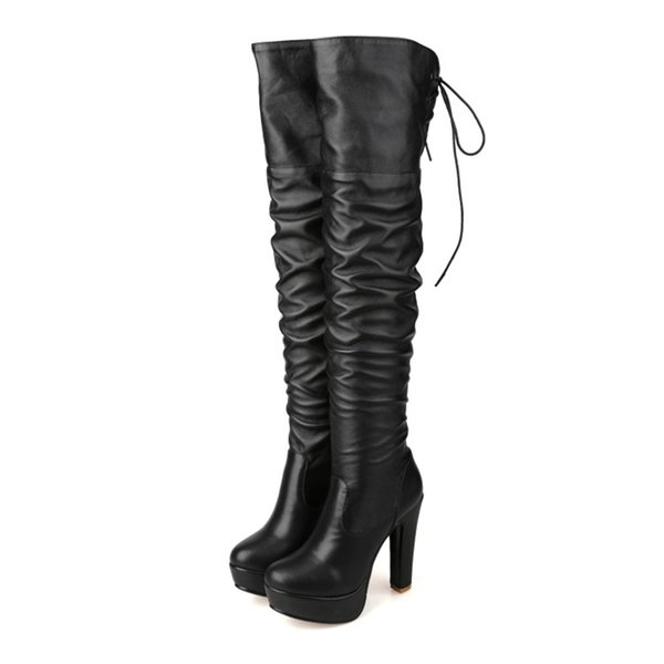 Fashion Hot Sale Womens Ladies Thigh-High Boots Shoes Sexy High Heel Over Knee Boots B836 US UK Size Customized