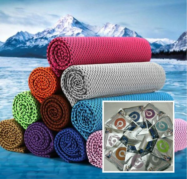 best selling New Summer Exercise Towels Polyester Reusable Double Layer Outdoors Fitness Chill Cold Towel Running Biking Travel Camping Cooling Towels