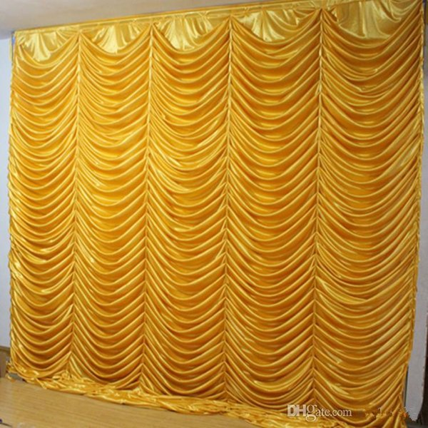 3M*3M wave backdrop Party Curtain Celebration Stage water ripple background drapes