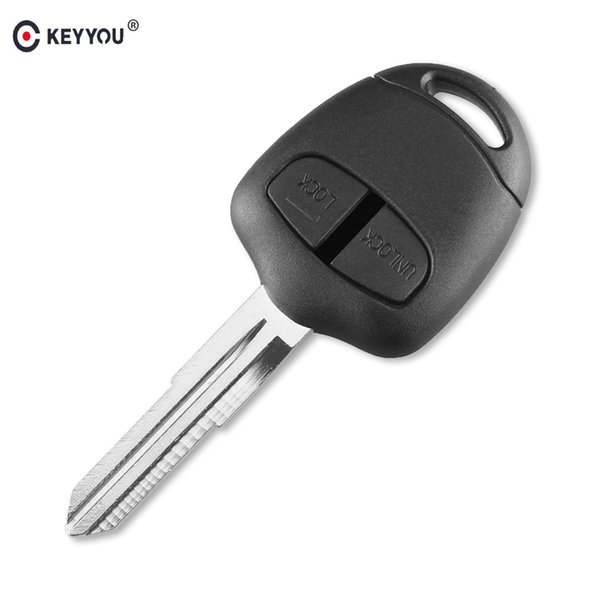 Ignition System Car KEYYOU 2 Button Remote Key Case for Mitsubishi Lancer EX Evolution Grandis Outlander Blank Key Shell Fob Cover