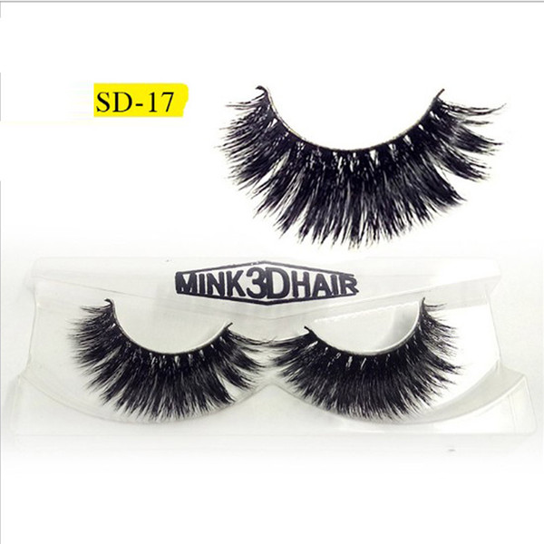 Mink Lashes 3D Mink Eyelashes Natural False Eyelashes 5 pairs Handmade Fake Eye Lashes Extension for Beauty Makeup SD-17