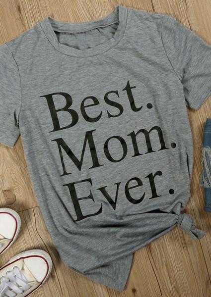 Tee-shirt femme Meilleur maman de tous les temps T-shirt Femme Drôle Graphique T-shirt Eté Décontracté Grung T-shirt Harajuku Tees Dames Haut ras du cou Livraison