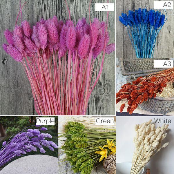 1 manojo (1 manojo = 20 piezas) Plantas de simulación natural Ramos de flores secas para la decoración del hogar Sala de estar Boda P10