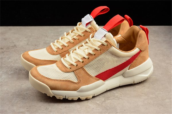 Tom Sachs Craft Mars Yard 2.0 Space Camp Running Shoes For Men AA2261-100 Natural Sport Red Maple Outdoor Authentic Sneakers With Original