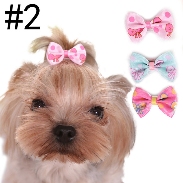 New 3.5cm 9 Styles Bowtie Dogs Hair Accessories Pet Clips Grooming Gift Products Cute Dog Ornaments Supplies