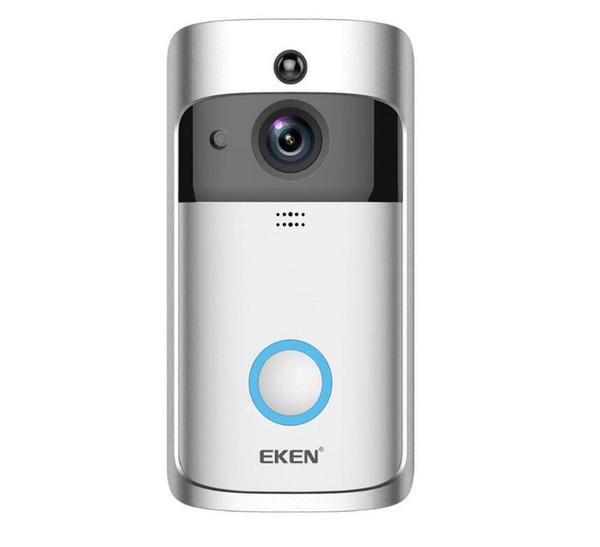 2019-EKEN Akıllı Ev Video Kapı Zili 720 P HD Wifi Bağlantı için Gerçek zamanlı Video Kamera İki Yönlü Ses Lens Geniş Açı Gece Görüş PIR Hareket
