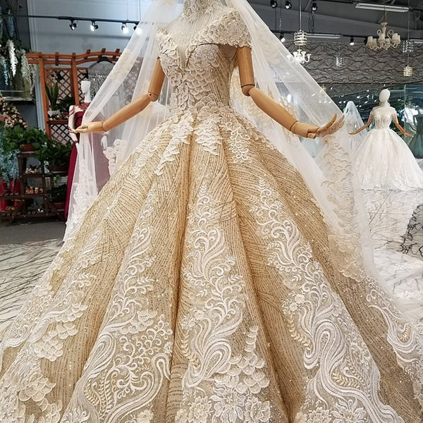 2019 Golden Prom Party Dresses Ball Gown Lace Up Back Sweetheart Floor Length Puffy Shiny Evening Gowns With Petticoat Girl Pageant Dress