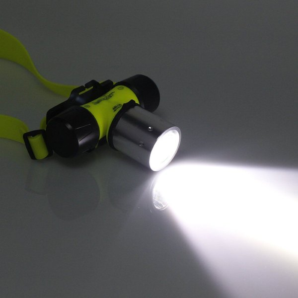 Underwater 2000 Lumen CREE XML T6 Headlamp LED Waterproof 20M Swimming Diving Headlight Dive Scuba Head Light Torch Lamp 50Pcs