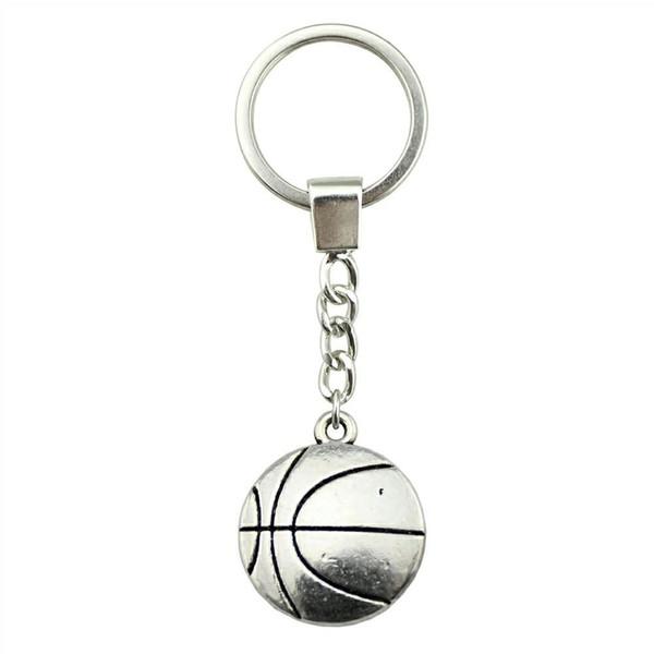 6 Pieces Key Chain Women Key Rings Fashion Keychains For Men Basketball 22x18mm