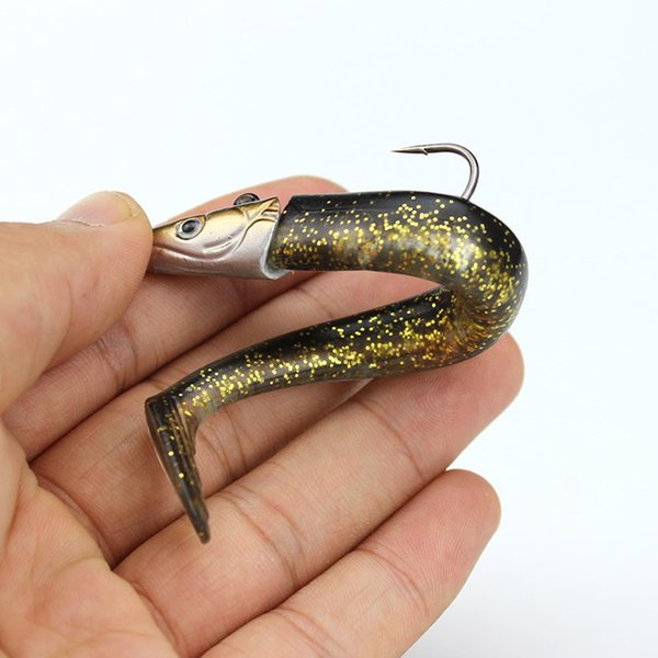 1Pcs Jig Head Soft Fishing Lure 16g 11cm Fish Lead Head Bait Fresh Salt Water Vivid Body Jigging Sinking Peche Y18100806