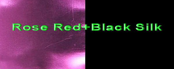 Rose Red+Black Silk