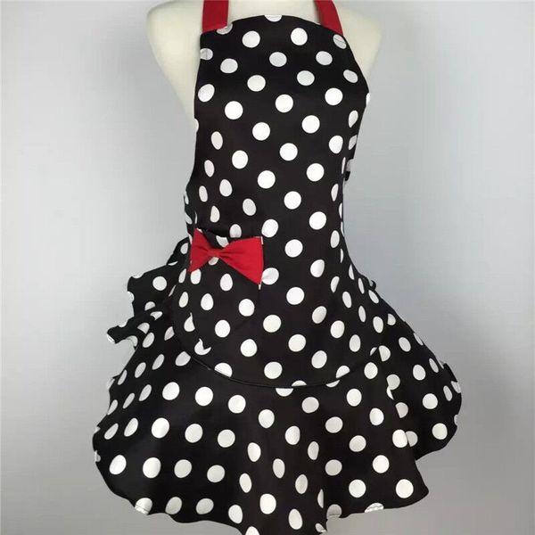 Sweetheart Retro Kitchen Apron Woman Polka Dot Cooking Salon Avental De  Cozinha Divertido Pinafore Tablier Dress Vintage Plastic Aprons Server  Aprons ...