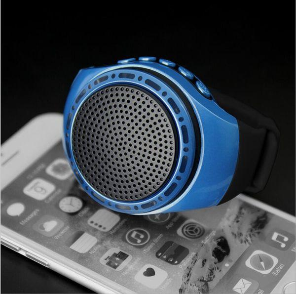 U6 smart phone wearable audio watch self-timer Bluetooth speaker hands-free call plug TF card speaker Free shipping
