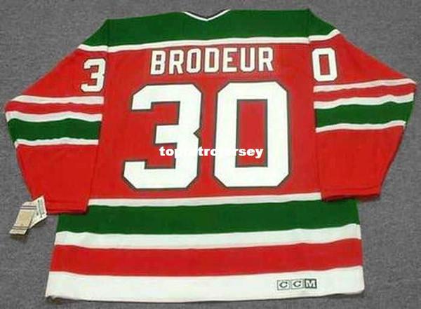 Wholesale Mens MARTIN BRODEUR New Jersey Devils 1980's CCM Vintage Cheap Retro Hockey Jersey