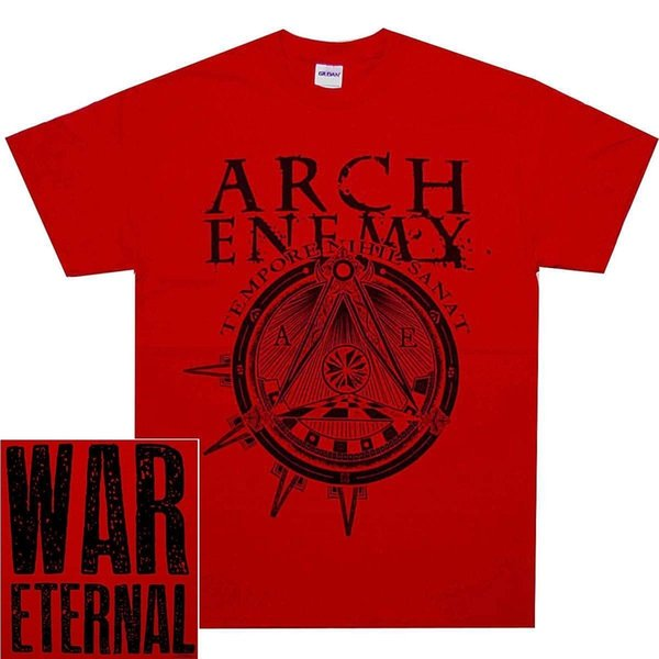Arch Enemy Illuminati Red War Eternal SHIRT Official T-Shirt New Cheap Sale 100 % Cotton T Shirts for Boys Funny