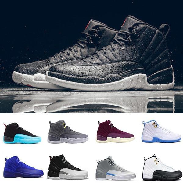 2018 Новый 12 Бордо мастер баскетбольная обувь мужчины спортивная обувь такси черны