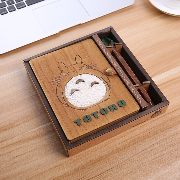 Creative Cute Cartoon Totoro Diary Book Planning NotWooden NotStudent Stationery Set Gift Birthday Gift