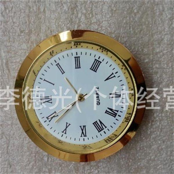 Movimento de cristal Relógios de Metal de Ouro Liga de Quartzo Rodada Assista Inserir Roman Mumerals Trompete Conveniente Relógio Acessórios À Prova De Água 6ya jj