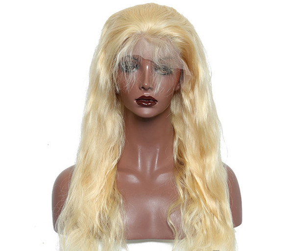 Body Wave Full Lace Wig 613# Blonde for Women with Baby Hair Glueless Brazilian Virgin Human Hair Wigs