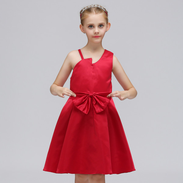 2019 Hot Sale Cheap Flower Girl Dresses Kids Formal Evening Cocktail Prom Communication Dress For Wedding Party