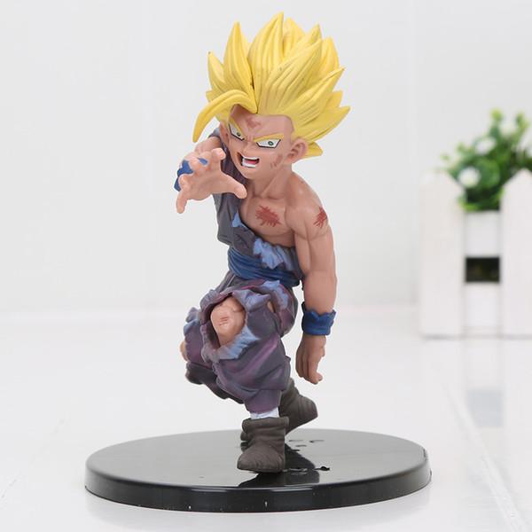 12 cm Dragon Ball Z Toy Showcase dramático Son Goku Gohan figuras de PVC juguetes modelo