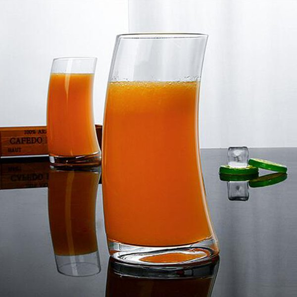 530ML Creative Crystal Juice Glasses Water Tumbler Crescent Moon Shape Drinkware Beer Glass Cups Glasses Cheers Shot Juice Mugs Party Supply