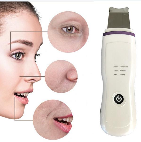 Ultrasonic Skin Scrubber Blackhead Removal Pore Cleaner Galvanic Ion Spa Beauty Device Facial Massager Lift Shovel Machine