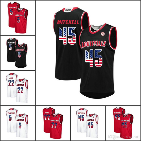 c041fe74a National flag NCAA mens Louisville Cardinals College Basketball Jerseys  Lance Thomas Deng Adel Malik Williams Terry Rozier Quentin Snider