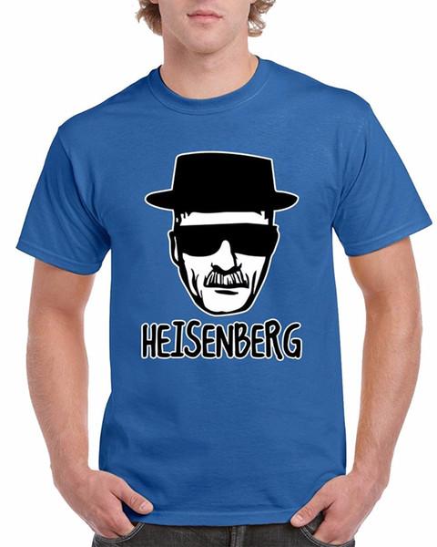 Magliette 2018 Vestiti di marca Slim Fit Stampa O-Collo Breve Heisenberg Breaking New Style Tee Shirt For Men