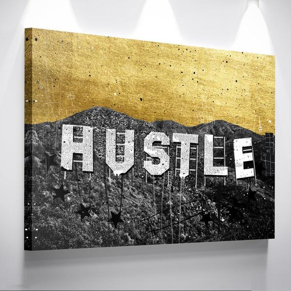 "Unframed/Alec Monopoly ""Hustle Hills"",HD Canvas Print home decor wall art painting,office art culture"