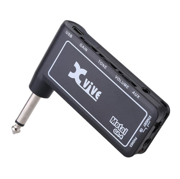 Xvive GA4 Metal Mini Portable Rechargeable Electric Guitar Plug Headphone Amp Amplifier Free Shipping