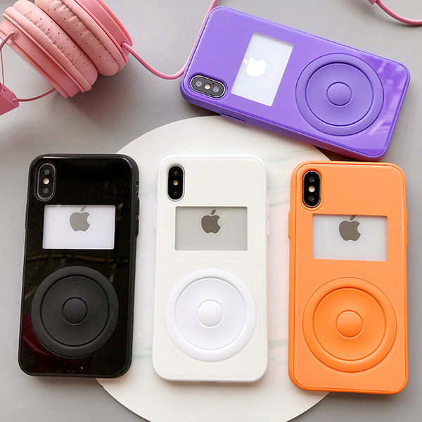 3D Fashion Player MP3 Street Style soft silicone phone case for iphone 6 6s 6plus 7 7plus 8 8plus X 10 japan cover